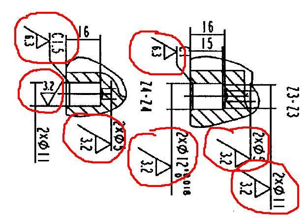 请问拿到机械加工图纸,怎么看图.知道哪里是要加工的.