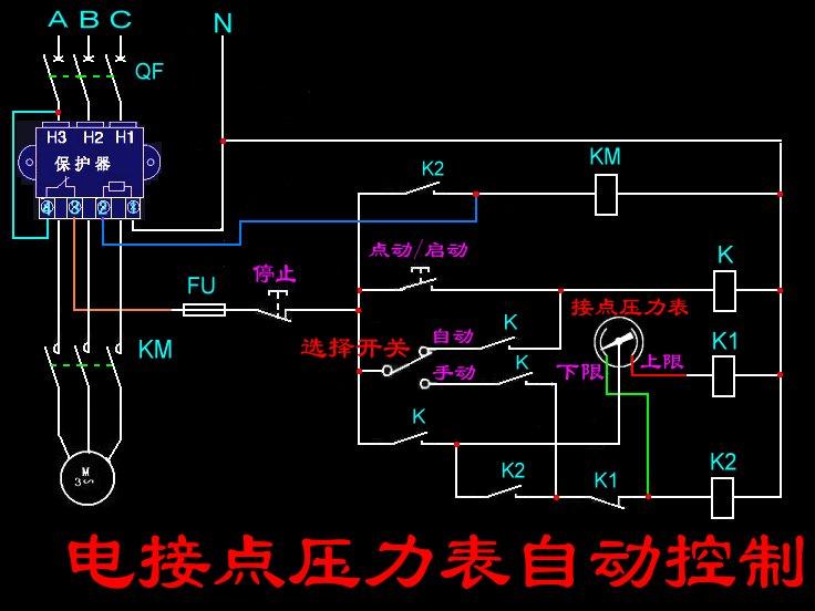 1个转换开关,1个电接点压力表,1个jd-5保护器,1个交流