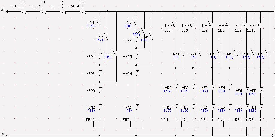 求一个四层货物升降机电路图,继电器控制的