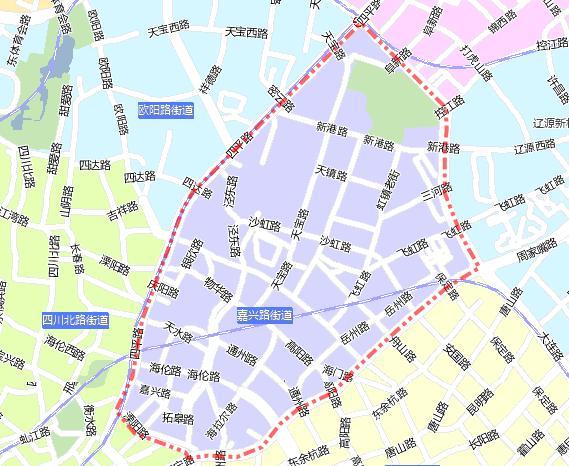 上海虹口区地图_虹口区 嘉兴路街道