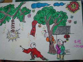 关于春节美术教案精选初中稿竞选图片