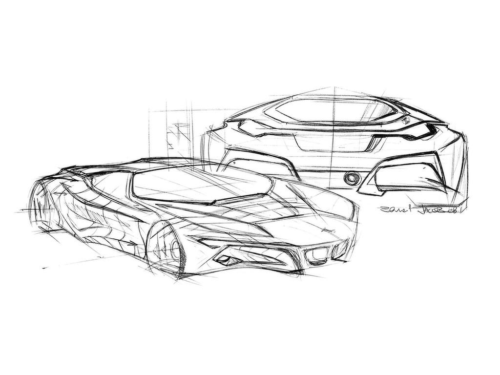 汽车或者发动机写实素描,还可以看到内部结构的图片哪里有?谢谢