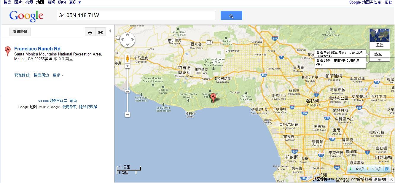 北纬34.05 西经118.71是哪里
