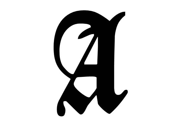 _死亡笔记里的字体,显示的是一个字母l,也叫哥特字体.