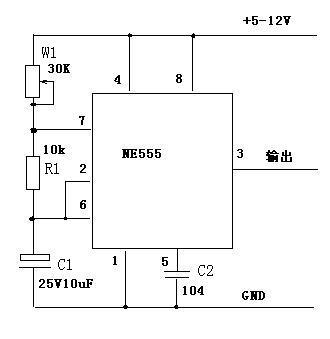 有关用ne555做的50hz的振荡电路图