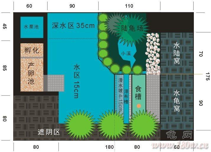 谁有室内乌龟养殖的乌龟池设计图?