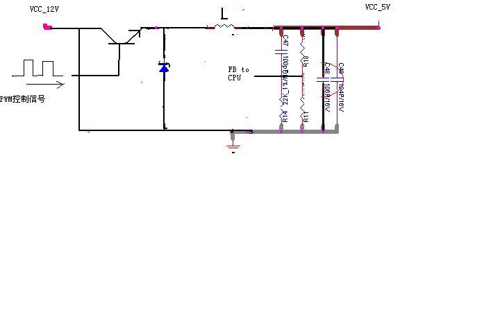 谁帮我画一个降压电路简单点的,12v〈dc〉降到5v〈dc〉有兴趣在说下