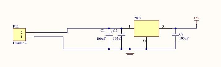 单片机电源电路将12v直流电变成5v的问题