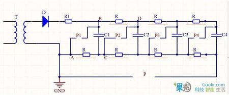 3,电路图中(包括高压包自激电路)有很多接地的标识,那么直接接入家里
