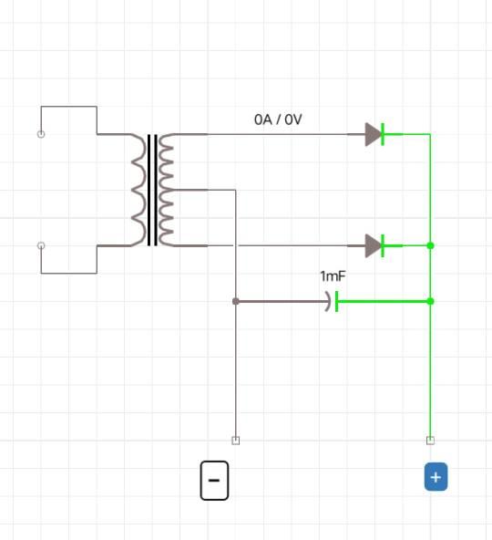 双12v电源整流后的电压是多少v,怎么计算呢附上电路图