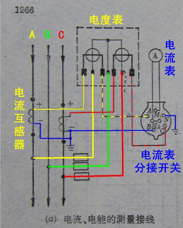 一个380v的电流表和三个互感器 如何连接?