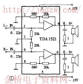 tda1521双电源btl接单声道电路可行吗