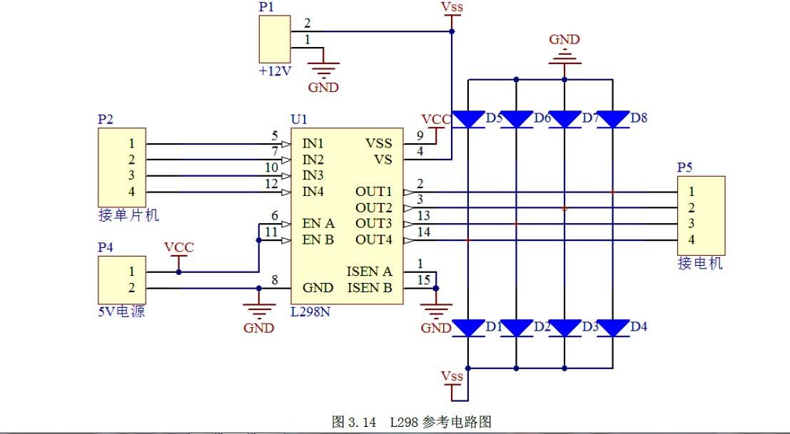 想问下l298芯片驱动步进电机的原理和电路图!