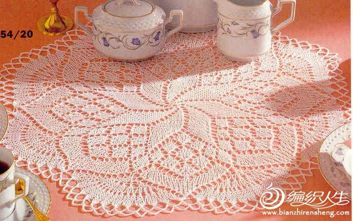 谁知道这张图片(70年代的编织桌布)的正确图解,织到一半织不出来了.