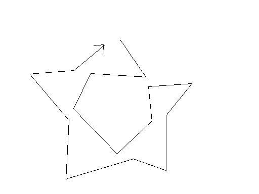 一笔画五角星,有多少种方法?图片