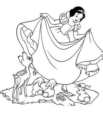 怎么画白雪公主简笔画