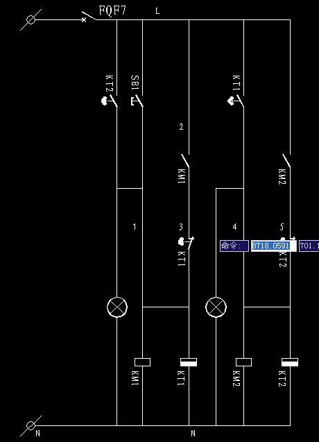时间继电器控制两组电路循环图