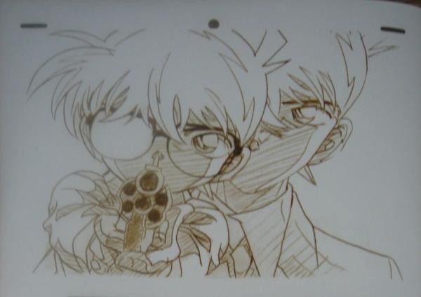 求:柯南的手绘图,黑白的