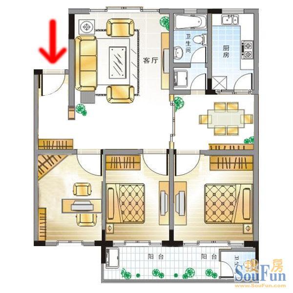 110平米的房子谁能帮我出一个设计图啊!