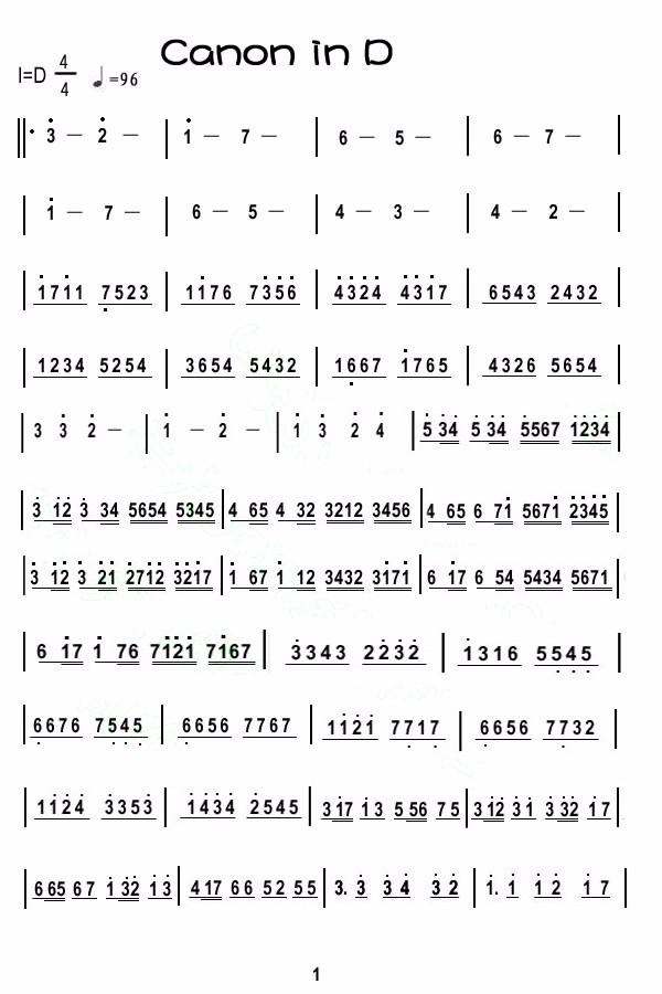 卡农小提琴简谱