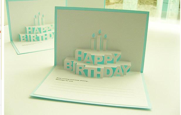 有谁知道这个3d立体的生日贺卡的图纸该怎么画图片