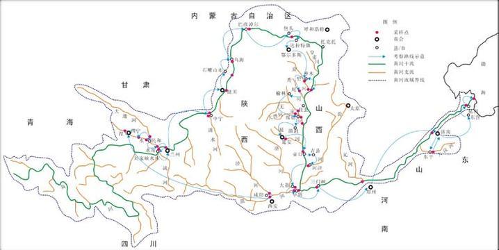 附上黄河支流地图图片.