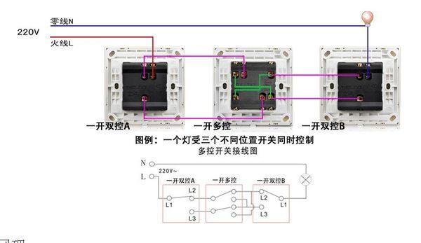 下面附图,有接线图跟电路图: 追问 意思就是两边的双控开关都放三根线