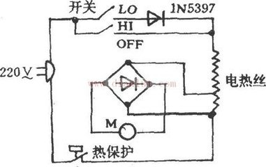 求电吹风电路图