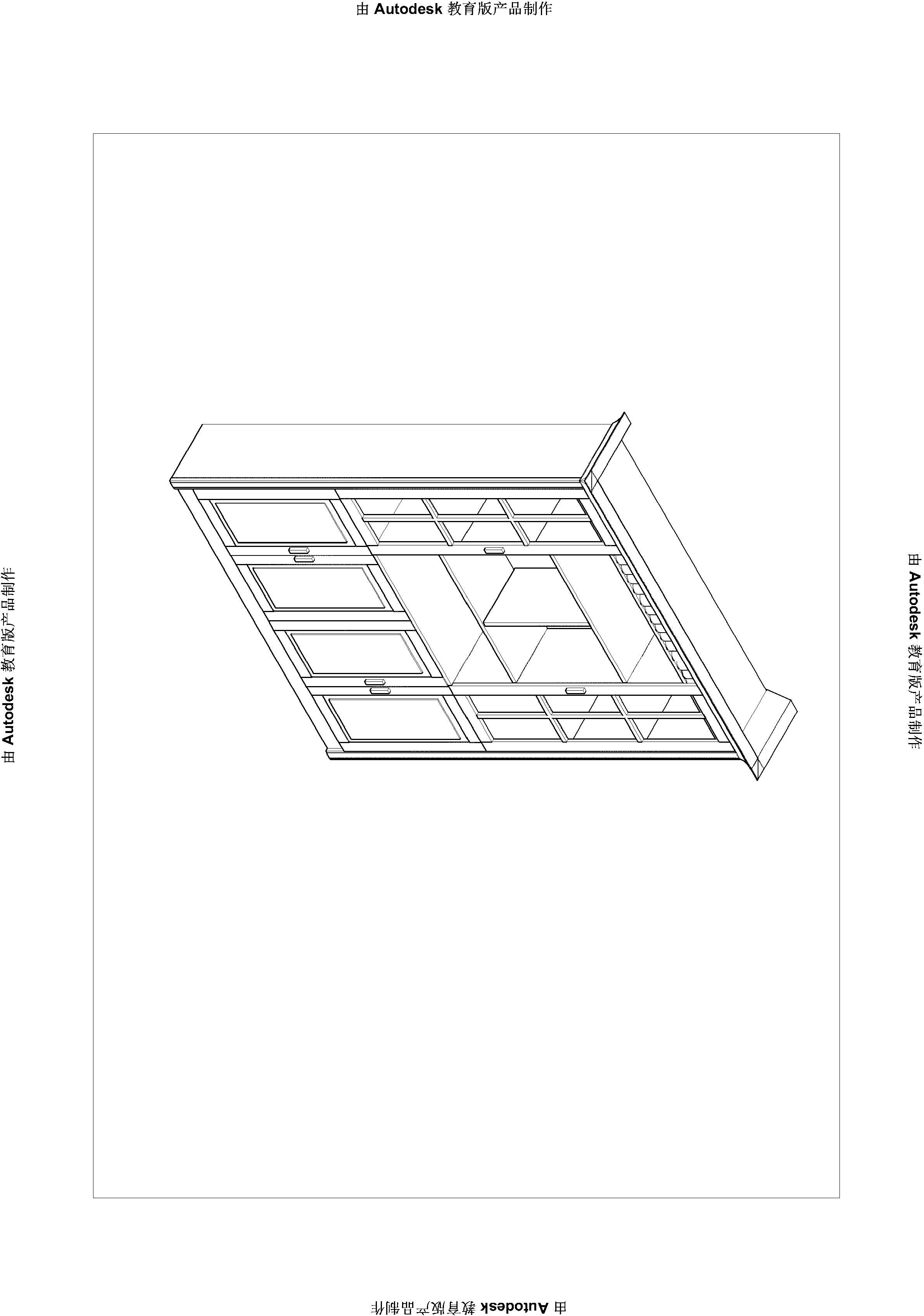 如何用cad画衣柜的欧式顶线!