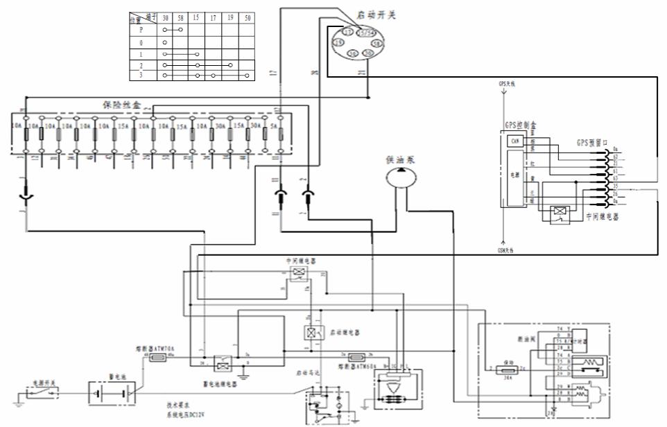 起动机的控制电路图怎么画的呀?