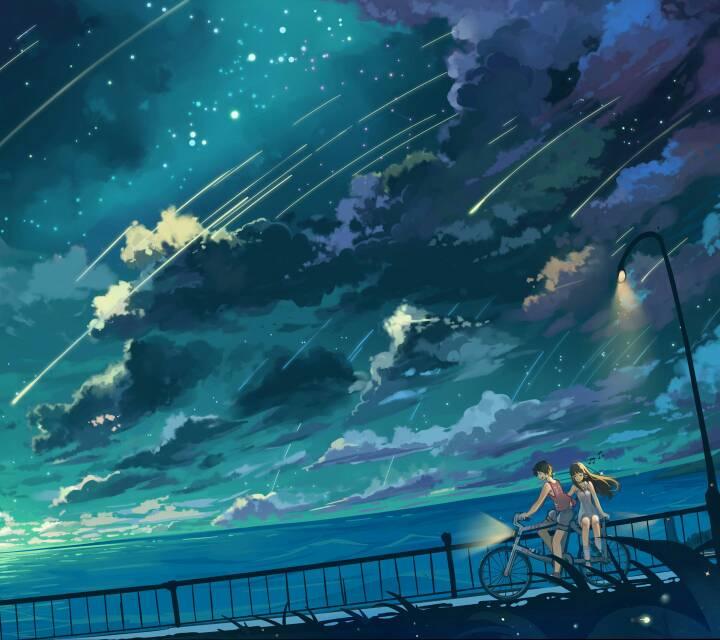 求动漫星空,科幻类的手机壁纸.