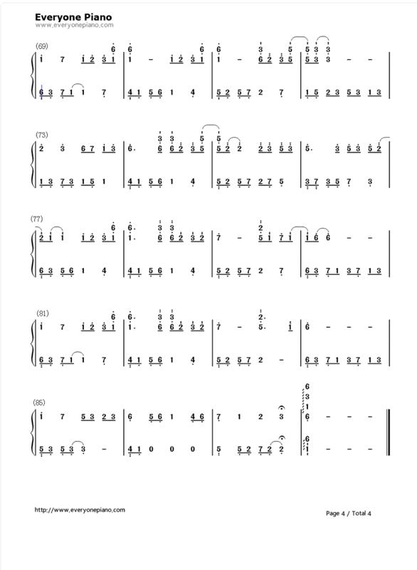 需要夜的钢琴曲五的c大调数字简谱 双手的 谢谢
