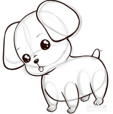 教小朋友如何绘画可爱的小狗