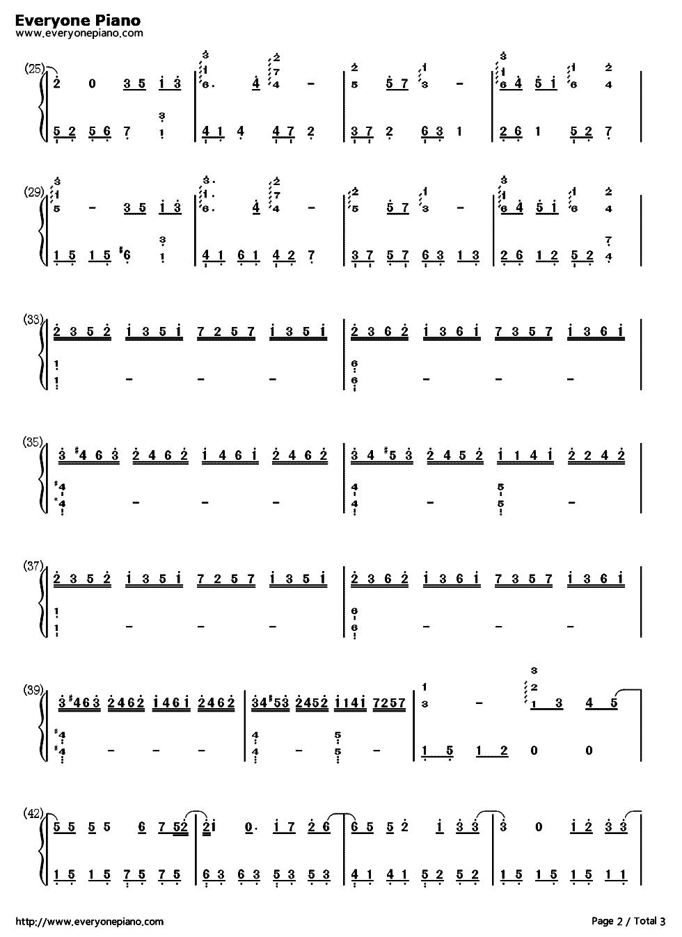 蒲公英的约定钢琴谱