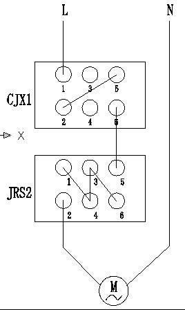 想要实现自动控制和有过热保护,配接触器和热继电器 主电路是怎么接线