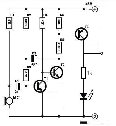 通过mic(咪头)将人的声音信号转化为电压信号,然后送给单片机处理