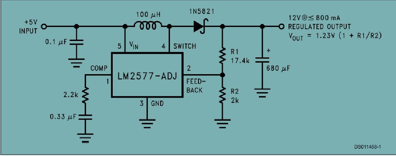 lm2577-adj 开关电源芯片被整体整合在集成电路中,为反激变换开关