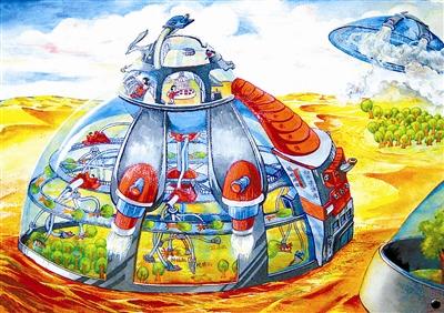 科幻画的一等奖作品(图片)
