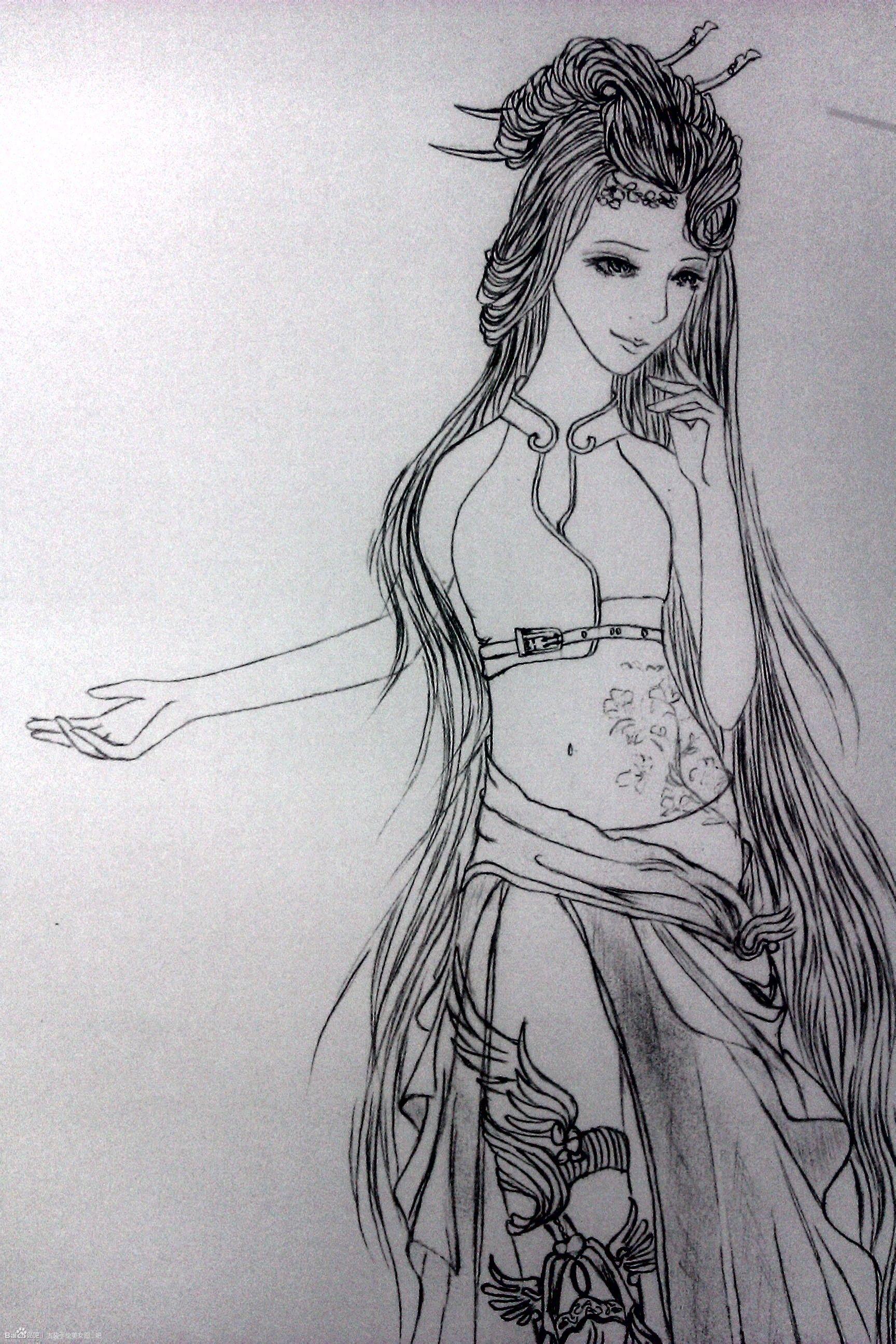 有古代美女手绘图吗?必须要是手绘的,而且很漂亮,必赞