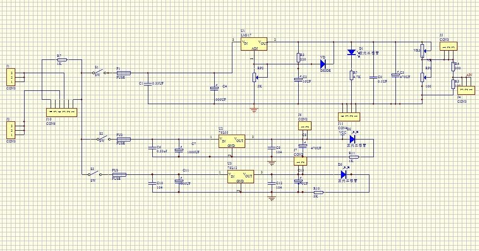 求一个pcb电路板线路图,用protel 99 se画的?简单的电路就行