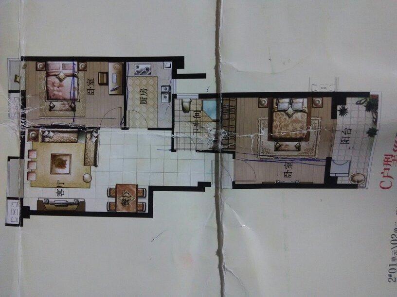 求解65平方房子设计图,想要个小三房,进门是墙可以敲做鞋柜吗?