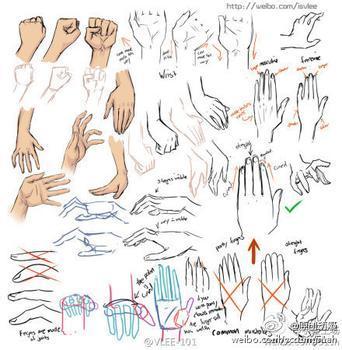 最近在自己画漫画人物.手的处理遇到了问题.请大神提供一些手的图片.