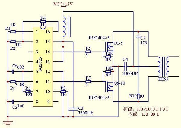 17:18:49   最佳答案 做逆变器,这个是高频的逆变器电路图,简单效率高