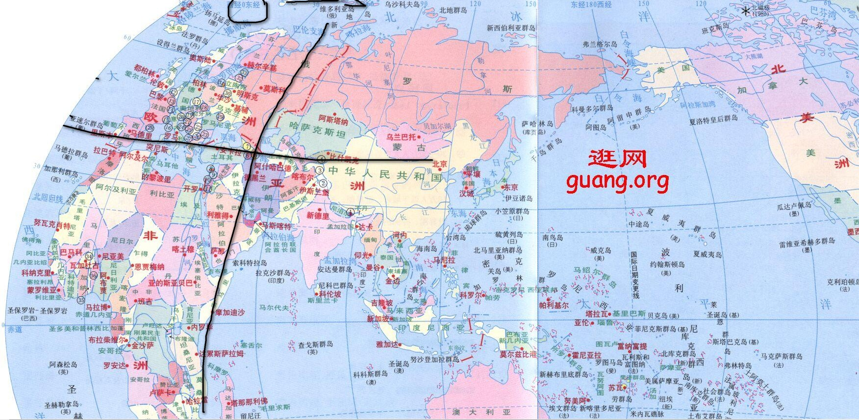 请问东经45度北纬36度是什么地方(最好有地图)