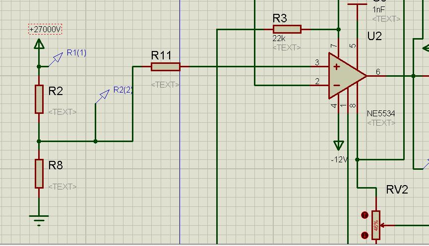 常用电压跟随器芯片_ne5534做电压跟随器的时候,请问图中三个电阻r2,r8,r11的值对应为多少