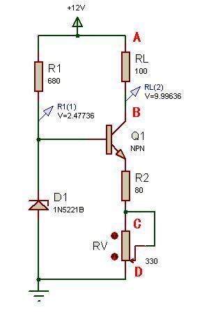 请问怎么设计一个电路,用一个稳压管和三极管做成恒流