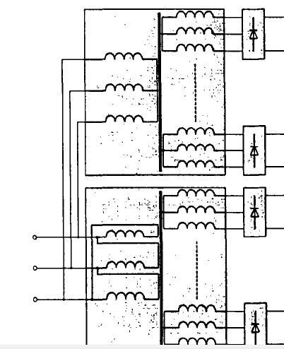 画三相桥式整流电路原理图时,里面的三相变压器电气符号找不到,哪个