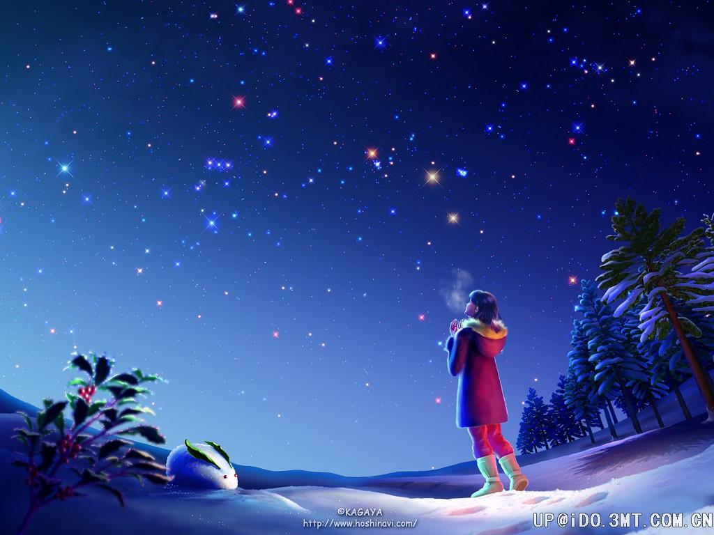 马克笔手绘夜空图片