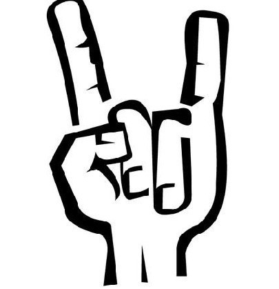 求摇滚手势的qq头像图片或者我爱你的那个手势.要高清