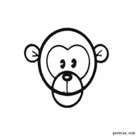最简单的猴子怎么画